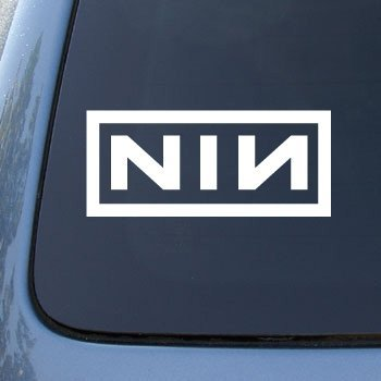 NINE INCH NAILS NIN - Vinyl Decal Sticker #A1363 | Vinyl Color: White
