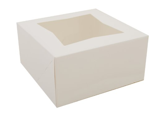 Southern Champion Tray 24023 Paperboard White Window Bakery Box, 6