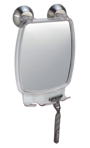 InterDesign Forma Power Lock, Fog Free Mirror, Clear