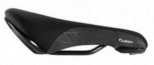 Fizik Flash 8mm MTB Bicycle Saddle (Steel Rails, Black)