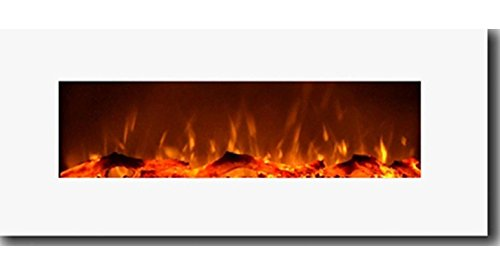 Gibson Living Liberated be unrestrained 50 Inch Electric Wall Mounted Fireplace in White