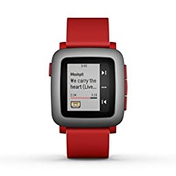Pebble Time Smartwatch - Red (Certified Refurbished)