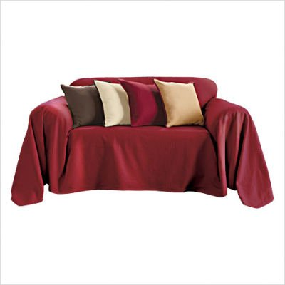 Buy Low Price Sure Fit Sure Fit Bristol Furniture Throw – Cranberry (Loveseat Throw) (B002NFV6XK)