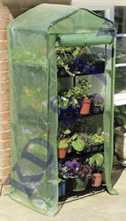 4 Tier Mini Greenhouse With Reinforced Cover