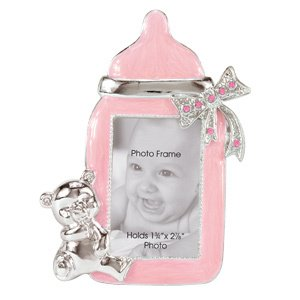 Imagen de Baby Girl Bottle Marco de fotos con Rhinestone Accent