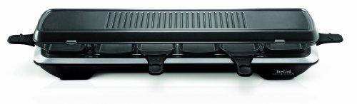 Tefal-RE-5228-Simply-Line-Raclette-6-sartenes-acero-inoxidable-1050-W-superficie-de-parrilla-clsica-Teppan-Yaki-color-negro