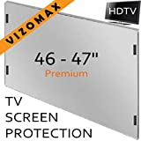 "46"" - 47"" Vizomax Antirreflejante protector de pantalla de la televisor TV LCD LED Plasma HDTV Screen Protector Cover Guard Shield"
