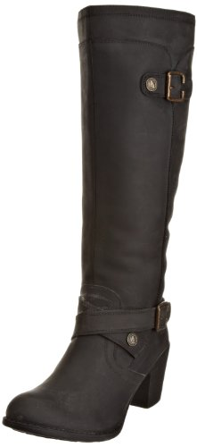 Hush Puppies Women's Marshfield Black Waxy Leather Knee High Boots H26118003 3 UK