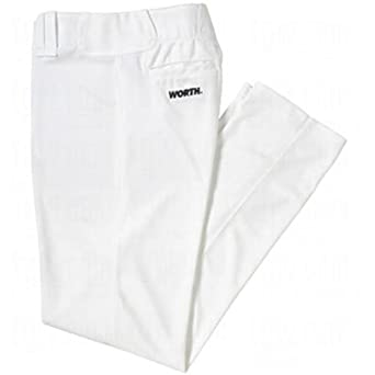 Worth Men's Titan Baseball/Softball Pant (White, X-Large)