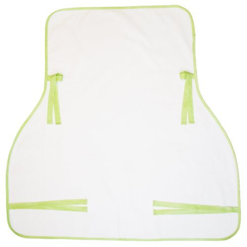 Rain or Shine Kids Suncover For Baby, White with Pistachio Edging