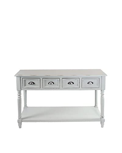 Winward Wood Console Table, Distressed White