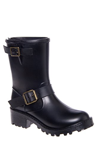 Moto Solid Short Rain Boot