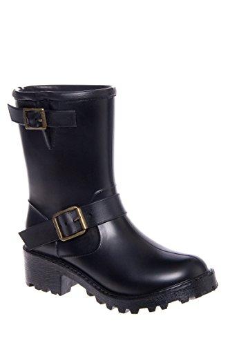 dav-womens-moto-rain-shoe-black-gunmetal-buckles-7-m-us
