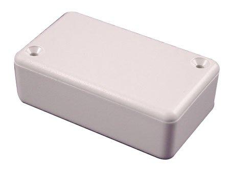 "Gray Mini Plastic Box- 0.79"" X 1.97"" X 1.97"" With White Earbud Headphones"