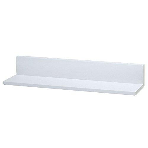 ドウシシャ 壁掛け 飾り棚 L型  ピンで取り付ける壁掛け 賃貸でも安心 ホワイト 幅60×奥行11.5×高さ10cm KB-60L WH