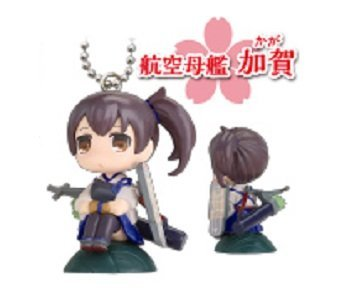 Kantai Collection~KanColle Mascot Figure Swing Keychain~Hanfuda Ver.~Kaga