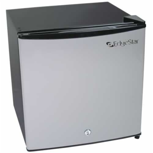 Compact Freezer Refrigerator With Lock - Stainless Steel front-1028858