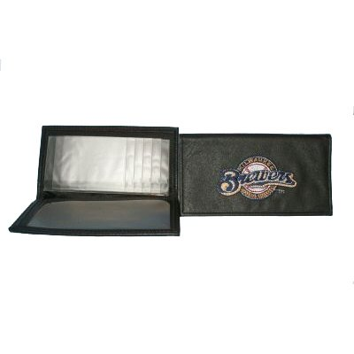 MLB Baseball Black Leather Embroidered Checkbook Cover - Milwaukee Brewers - Buy MLB Baseball Black Leather Embroidered Checkbook Cover - Milwaukee Brewers - Purchase MLB Baseball Black Leather Embroidered Checkbook Cover - Milwaukee Brewers (Rico, Rico Accessories, Rico Mens Accessories, Apparel, Departments, Accessories, Men's Accessories)