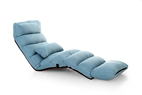 e-joy Relaxing Sofa Bean Bag Folding Sofa Chair, Futon Chair and Lounge, Light Blue (Light Blue Futon compare prices)