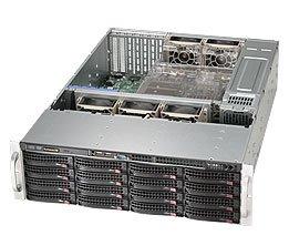 Supermicro CSE-836BA-R1K28B Supermicro Case CSE-836BA-R1K28B 3U 16x3.5inch SAS 80PLUS PLATINUM 1280W Black