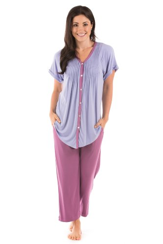 Women's Pajama Set Sleepwear - Sweet Paradise (Bordeaux, Large) Eco-Friendly Gifts for Women WB0002-BDX-L