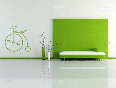 Highwheeler Bicycle Vinyl Wall Decal Sticker Graphic By LKS Trading Post