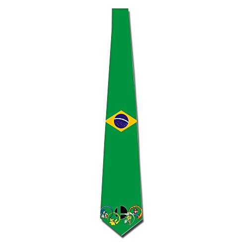 HANDSOMEFEEL The Olympic Rings Of Picacho Super Mario Neck Suits Tie Skinny Tie