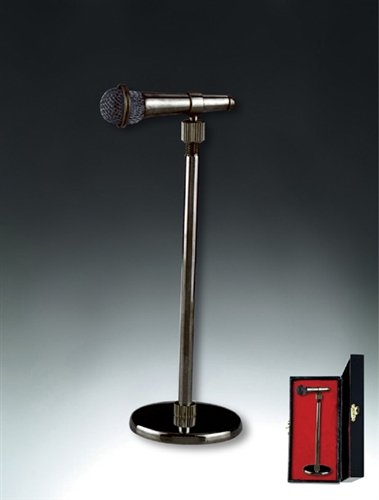 Black Microphone On Stand Miniature