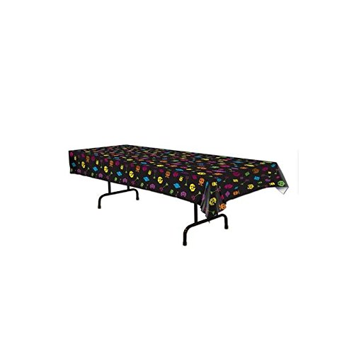 Totally 80's Gamer Plastic Tablecloth with 8-bit theme