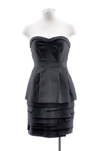 BCBG MaxAzria Black Tiered Sweetheart Strapless Dress 12