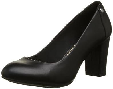 Hush Puppies Womens Sisany Pump Court Shoes Black Schwarz - Noir (Black Leather) Size: 3