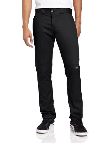 dickies-mens-skinny-fit-double-knee-work-trousers-black-w28-l30