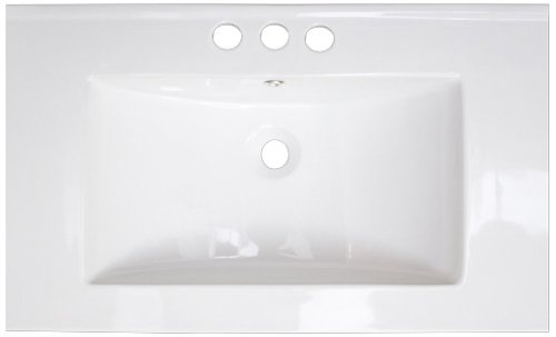 American Imaginations 412 32-Inch by 18-Inch White Ceramic Top with 4-Inch Centers