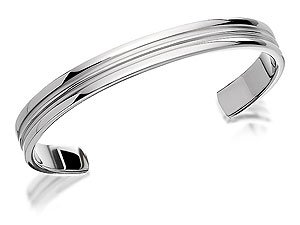 Fred Bennett Stainless Steel Ribbed Bangle