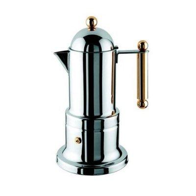 Stovetop Espresso Maker - Vev Vigano Kontessa Gold 2 cup size