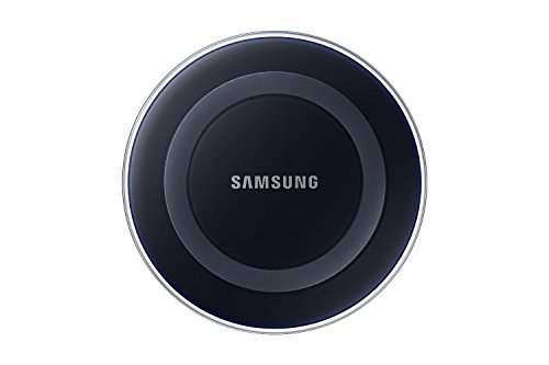 Samsung Wireless Charging Pad with Protective Cover for Galaxy S6 – Retail Packaging – Black