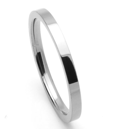 2MM Comfort Fit Titanium Wedding Band Classic Flat Ring (Size 1 to 12) Size 11