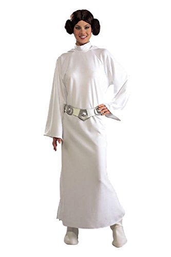 8eighteen Star Wars Deluxe Princess Leia Adult Halloween Costume (Princes Leia Costume)