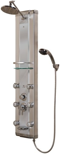 PULSE Showerspas 1013 Kihei Pre-plumbed Anodized Aluminum Shower System