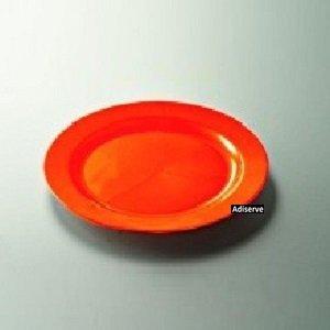 12-platos-de-plastico-desechables-24-cm-diseno-nacarado-color-naranja