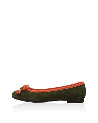 Bisue Ballerina grün/lava EU 37