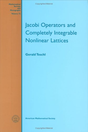 Large book cover: Jacobi Operators and Complete Integrable Nonlinear Lattices