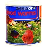Original AquaOne Freeze Dried Blood Worms 13 Gms Pack - Premium Fish Food!