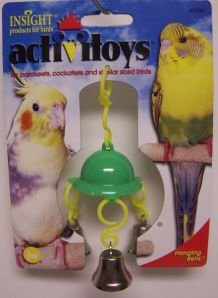 JW Pet Company Activitoy House Bells Bird Toy for Keets and Tiels Assorted Colors
