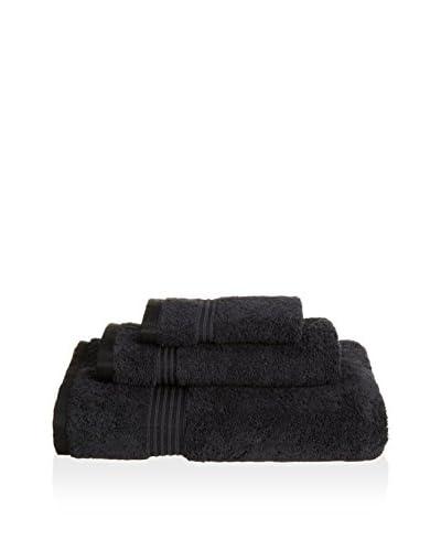 Superior 3-Piece 600 GSM Egyptian Cotton Towel Set, Black
