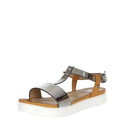 Lumberjack SW11806-002 Sandalo Donna Ecopelle Silver/Tan Silver/Tan 40