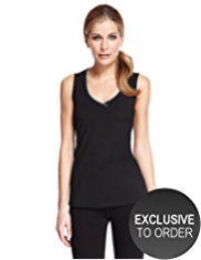 M&S Collection Active Performance Cotton Rich Vest Top