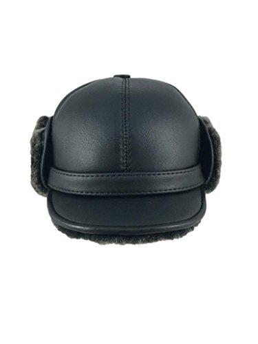 zavelio-mens-shearling-sheepskin-elmer-fudd-pilot-visor-hat-xx-large-black