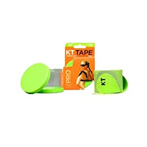 KT TAPE PRO Synthetic Elastic Kinesiology 20 Pre-Cut 10-Inch Strips Therapeutic Tape, Winner Green