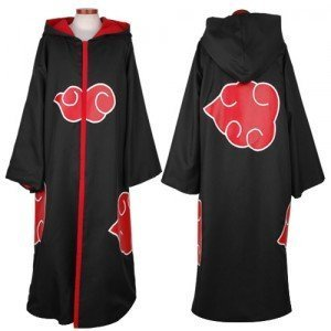 Japanese Anime Costumes Cosplay Costumes NARUTO Akatsuki Ninja Uniform / Cloak Size M